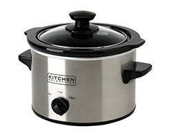 Kitchen Selectives Stainless Steel 1.5-Quart Slow Cooker